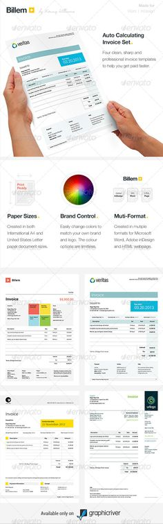 Grex Proposal\/Resume\/Invoice Template Package Fonts, Typography - microsoft invoices