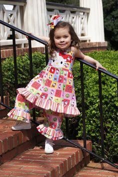 Boutique custom handmade Hello Kitty Dress by lisaslittlestitches, $48.00