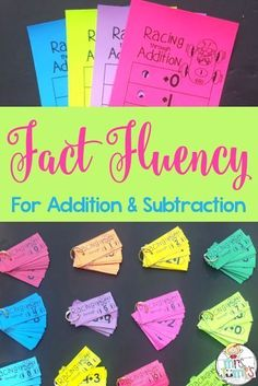 What is Fact Fluency? Fact fluency is knowing a math fact with accuracy and automaticity. Rather than needing to use math strategies t. Fluency Activities, Math Fact Fluency, Math Strategies, Math Resources, Multiplication Strategies, Second Grade Math, Grade 1, Third Grade, First Grade Games