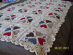Cozy Hearts Afghan..