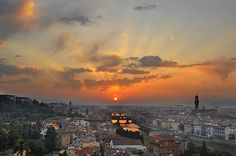 Florence sunset. I miss this so much, it makes me wonder if it was worth witnessing to begin with.
