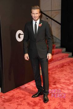 David Beckham wins the GQ award for Most Stylish Man of the Year.