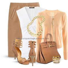 A fashion look from August 2013 featuring St.Emile cardigans, Strenesse blouses and J.Crew skirts. Browse and shop related looks.