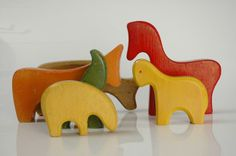 Vitali | wooden carved toy - mid century kids design