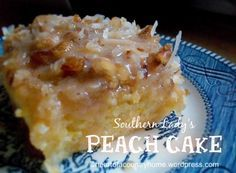 Southern Lady's Peach Cake | Heart of a Country Home