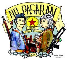 Mi homenaje a #Kobane y a los pueblos q han resistido y resisten al fascismo ¡No Pasarán! #TwitterKurds