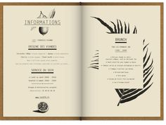 We were tasked with designing the club and restaurant's visual identities. For the menus, the restaurant's cuisine reminded us of French authentic culinary tradition which we s… Burger Restaurant, Restaurant Design, Carta Restaurant, Restaurant Identity, Restaurant Layout, Restaurant Ideas, Drink Menu Design, Cafe Menu Design, Menu Card Design