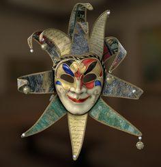 Jester Mask , Renato Scicchitano on ArtStation at https://www.artstation.com/artwork/NYV2P