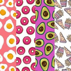 Some of the food patterns available as phone cases on my casetify! Check them out - link in description #illustrator #illustration #art #artist #artistsoninstagram #food #vector #vectorart #design #colour #donut #pizza #fries #avocado #cute #sketch #sketching #sketchbook #doodle #doodling #wacom #cartoon #pattern #arts_help #casetify