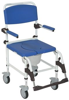 Aluminum Rehab Shower Commode Chair w/4 rear looking Casters – Stannard Medical Supplies and Equipment LLC