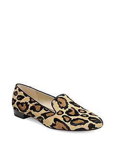 e6fa415e25e Sam Edelman Jordy Leopard Print Calf Hair Smoking Slippers