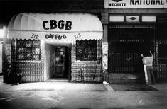 Outside shot of CBGB, which was located near the intersection of Bowery and Bleecker in New York's East Village.