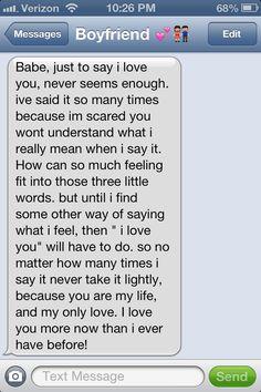 My boyfriend is amazing. I love you baby.
