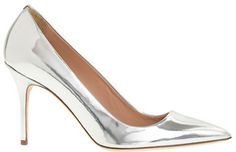 Silver Leather Pumps by J.Crew. Buy for $255 from J.Crew