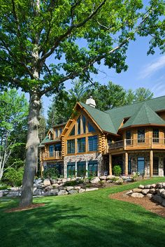 I really enjoy the log cabin look, maybe for a vacation home