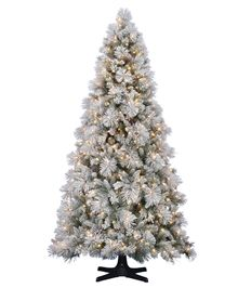 Hallmark Flocked Sugared Spruce Artificial Christmas Tree #TreeClassicsChristmas