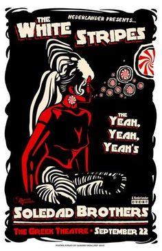 """The White Stripes  18""""x24"""" www.darrengrealish.net"""