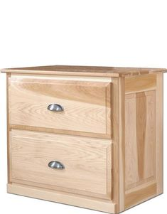 Amish Chapman Lateral File Cabinet Handy and beautiful organizer! Two full file drawers handcrafted in solid wood. You can add soft close drawers for a smooth, gliding drawer.