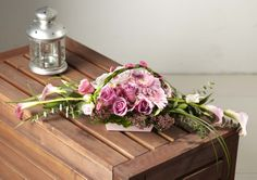 Create a floral gift for Mother's Day using a Square Designer Bowl from OASIS® Floral Products  www.oasisfloral.com