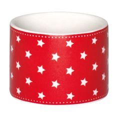 GreenGate Stoneware Napkin Ring Star Red D 4,3 cm