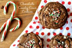 chocolate candy cane COOKIES.