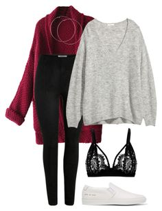 """""""#115"""" by mintgreenb on Polyvore featuring WithChic and Common Projects"""