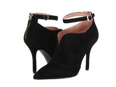 Enzo Angiolini Pamla Make a gorgeous statement with these sleek heels! Back-zip closure with adjustable buckle. Rich suede upper with split collar.