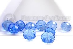 Ocean Blue, 8mm, Faceted Rondelle, 20 Pieces,, 8GL13-0008