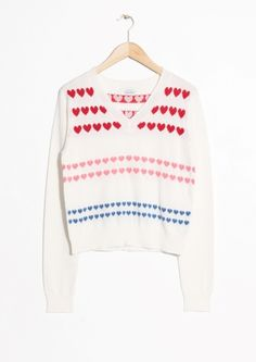 & Other Stories   Heart Sweater