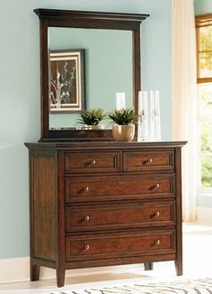 Ashebrooke 48 Inch Dresser/Mirror Havertys Furniture. Matches Bed