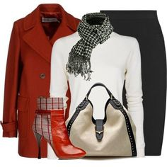 Professional to casual look