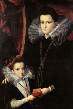 Lavinia Fontana - Gentildonna con bambina - c.1595 - Bologna, Pinacoteca Nazionale