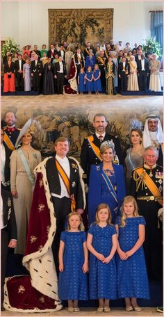 The new King and Queen of the Netherlands with other Royal Heads of State