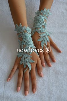 Hey, I found this really awesome Etsy listing at https://www.etsy.com/listing/192665934/mint-green-wedding-glove-fingerless