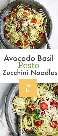 Avocado Basil Pesto Zucchini Noodles