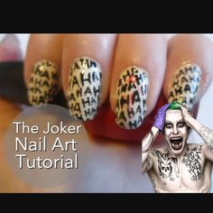 Nail art Mister J Batman Nail Art, Maquillage Harley Quinn, Joker, Pretty Hands, Beautiful Nail Designs, Halloween Nails, Halloween 2019, Halloween Party, Love Nails