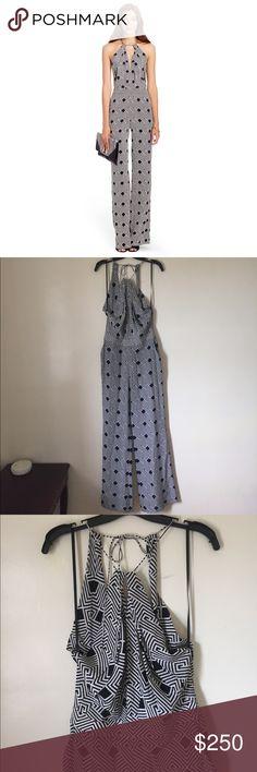 Diane von Furstenberg Open Back Silk Jumpsuit NWT, rare Jumpsuit, offers welcomed Diane Von Furstenberg Dresses Backless