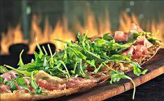 Harth restaurant has AMAZING flatbreads! This one has prosciutto and arugula