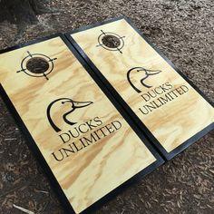 Ducks Unlimited Cornhole Set w/ bean bags by BlakesCustomCornhole