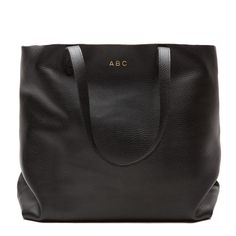 Classic Leather Tote Black. Love this for a diaper bag!