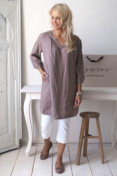 MIAMI Linen tunic, TAUPE
