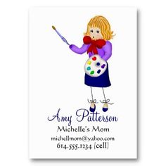 My Little Artist Mommy Cards Business Card