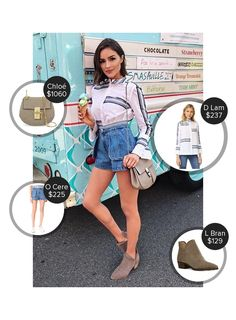 Olivia Culpo Cma Fest in Nashville - seen in Derek Lam 10 Crosby, Lucky Brand, Opening Ceremony and carrying Chloé. #chloé #dereklam10crosby #luckybrand #openingceremony  #oliviaculpo @mode.ai