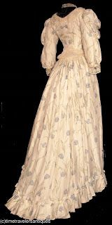 1890's Dress with Tulip print