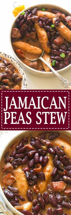 Jamaican stew peas- This Cozy Jamaican stew is made using red beans, meat and is cooked an aromatic coconut milk broth with Jamaican spices and spinners . A hearty Island stew