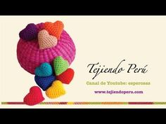 ▶ Corazón de San Valentín tejidos en crochet - YouTube ❥Teresa Restegui http://www.pinterest.com/teretegui/ ❥