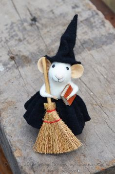 Sweety Witch Mouse  HALLOWEEN SPECIAL  Felting by feltingdreams, $98.00