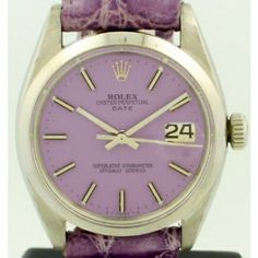 Purple 1961 Datejust Rolex with original custom painted purple dial.