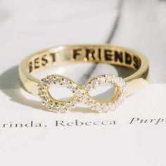Crystal Best Friend Infinity Ring
