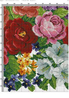5@🌻 Cross Stitch Bird, Cross Stitch Flowers, Cross Stitching, Cross Stitch Embroidery, Cross Stitch Patterns, Flower Vases, Pixel Art, Needlepoint, Needlework